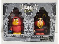 "vinylmation villainous duos set 3/"" iago and jafar from aladdin new sealed box"