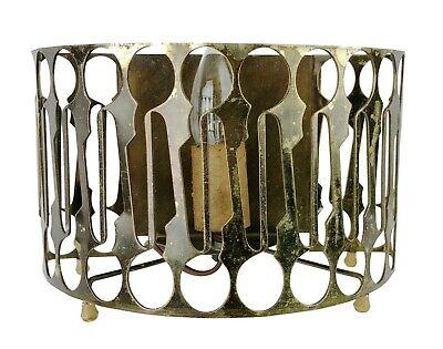 Vintage Midcentury Sierra Columbia Tabletop Curved Metal Cutout TV Lamp