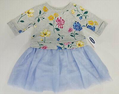 NWT Old Navy Girls Size 12-18 Months 2t 3t or 5t Blue Flower Tulle Tutu Dress](Navy Tutu Dress)