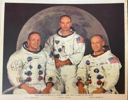 NASA - Apollo 11 Signed Photo - RARE