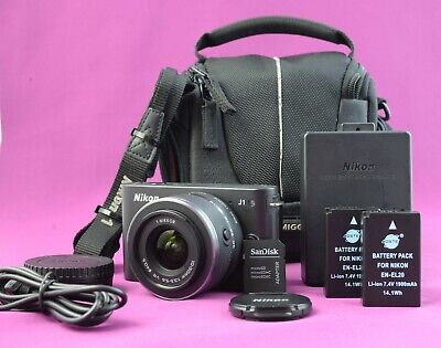 2198 shutter count Nikon 1 J1 10.1 MP Digital Camera 11-30mmm Lens+EXTRAS 1674A