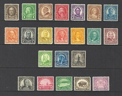 U.S. SC. #632/42,692-701 (NO 634A) 1926/34 1/2c TO 50c ROTARY PRESS ISSUES-MNH