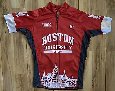 XL Men/'s International Liars Club Hincapie Short Sleeve Cycling Jersey White//Red
