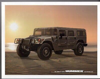 Hummer H1 Alpha 2004-06 USA Market Leaflet Sales Brochure