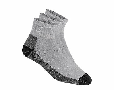 WigWam At Work Quarter Grey Socks - 3 Pair Pack S1360-072