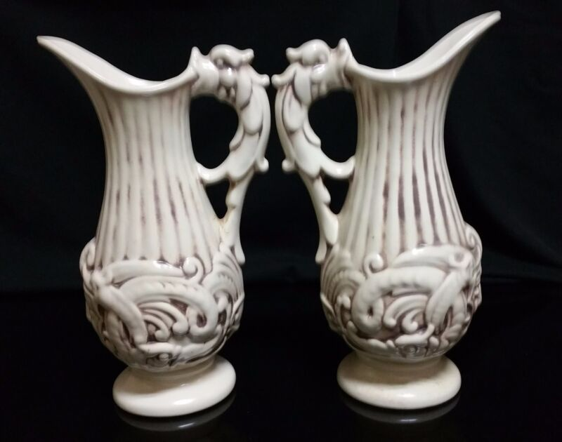 Vintage pair of 1930S Vintage Red Wing Pitcher 220 Dragon Handle