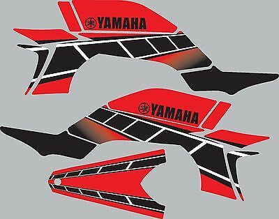 Graphics for 2003-2008 Yamaha YFZ450 YFZ 450 ATV decals stickers Retro Red for sale  Shipping to South Africa