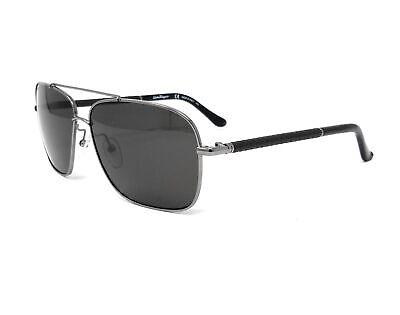 Salvatore Ferragamo Sunglasses SF145SL 015 Shiny Dark Gun Mens 59x12x140