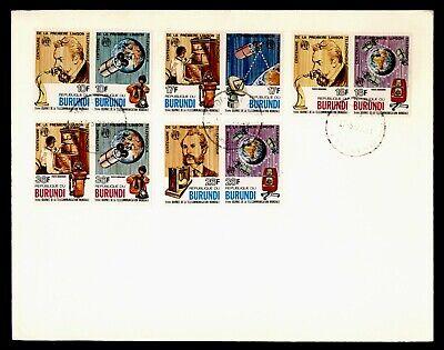 DR WHO 1977 BURUNDI FDC ITU BELL TELEPHONE ANIV COMBO SPACE  Lg18516