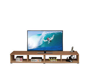 Schmal Wide TV Unit Walnut Colour Console Games Large Gaming Furniture Stand