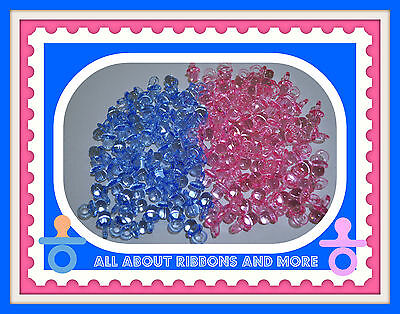 50 MINI PACIFIERS BABY SHOWER FAVORS- PINK OR BLUE](Blue Baby Shower Favors)