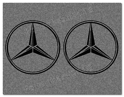 2 Aufkleber Stern für Mercedes  100 x 100 mm ---30 Farben--- MB017/1