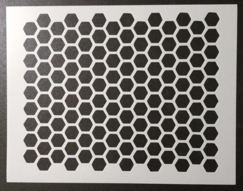 "Honeycomb Honey Comb Pattern 11"" x 8.5"" Custom Stencil FAST FREE SHIPPING"