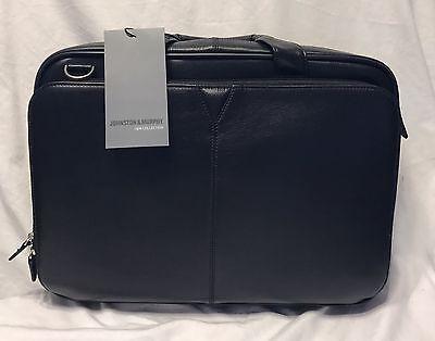 Leather Zip Brief - New Johnston & Murphy Leather Zip Top Brief Black 46-11101 SRP $450