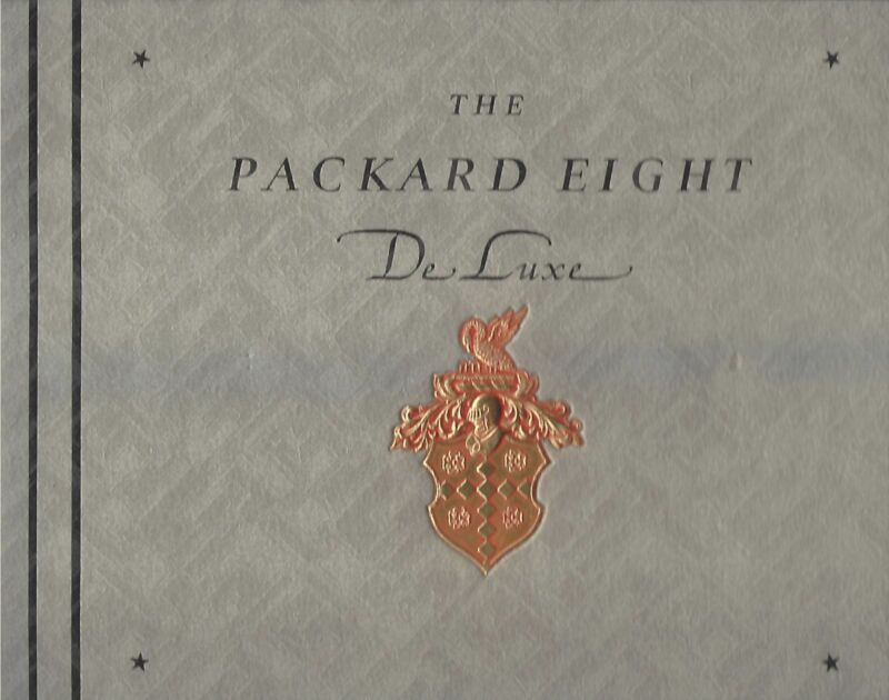 """1932 PACKARD SUPER EIGHT """"EIGHT DELUXE"""" PRESTIGE CATALOG – EXCELLENT CONDITION"""