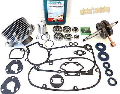 SIMSON Schwalbe KR51/1 Reparaturkit Motor 50 ccm mit SNH-Lager inkl. Öl in NEU