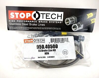 STOPTECH STAINLESS STEEL SS REAR BRAKE LINES FOR 94 01 ACURA INTEGRA ALL TRIMS