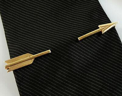 1940s Mens Ties | Wide Ties & Painted Ties Arrow Vintage Tie Bar Clip 1940s 50s Pierced Look Collectible Mens Jewelry $27.50 AT vintagedancer.com