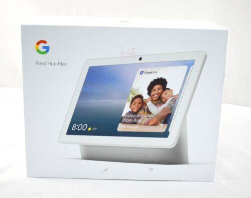 Google Nest Hub Max Smart Display w/ Google Assistant Chalk (GA00426-US) 8561sw