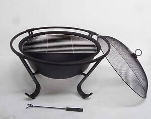75cm Outdoor Fire Pit BBQ Fireplace Heater Brazier w Rain cover Thomastown Whittlesea Area Preview