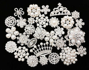 Arts,crafts & Sewing Buttons Diy Accessories High End Imitation Pearls Alloy Studded Glue On Disc Drill Deduction Rhinestones Accessories Flowers
