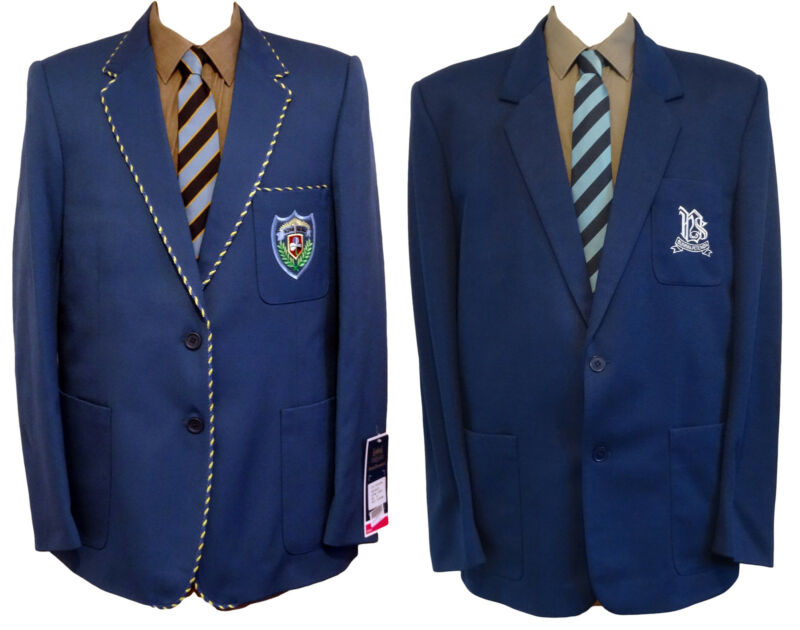 "Polyester & Wool Flannel School Blazers - Royal Blue - Many Sizes 29""-43"""