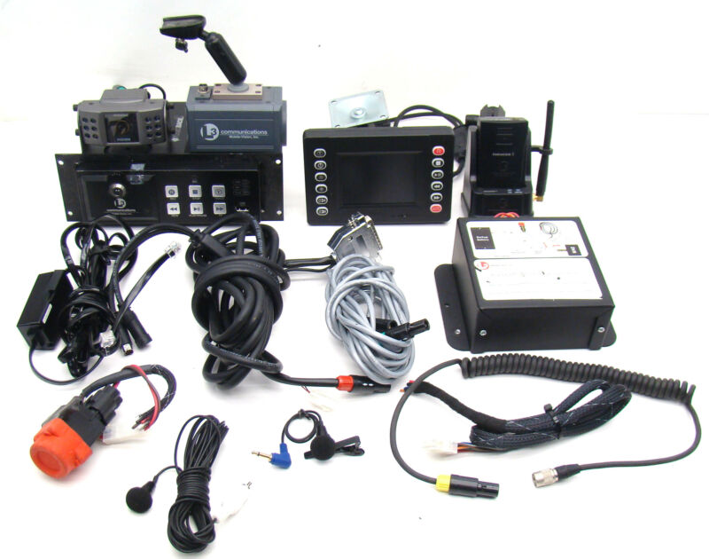 L3 Mobile Vision Flashback 2 Police Dash Cam/Camera Complete W/Cables/Mic B