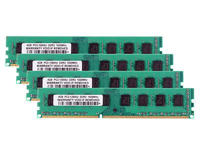 For AMD 16GB (4X 4GB) 2Rx4 PC3-12800 Desktop Memory DDR3 1600Mhz 240pin DIMM RAM segunda mano  Embacar hacia Spain