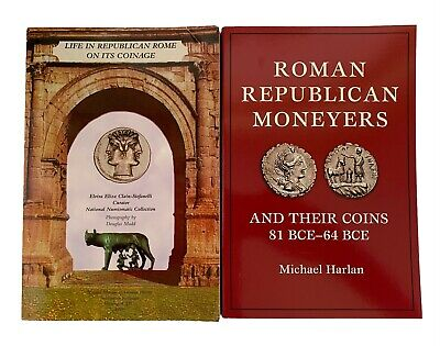 Two Works On Roman Republican Coins - Clain-Stefanelli Harlan - $32.00