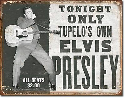 Elvis Presley Tupelo's Own Show Poster Metal Sign Tin New Vintage Style USA 1752