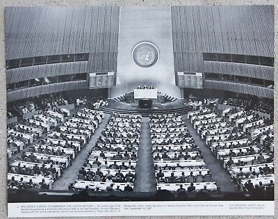 Rare Vintage 11x14 Photograph UN United Nations General Assembly New York 1967