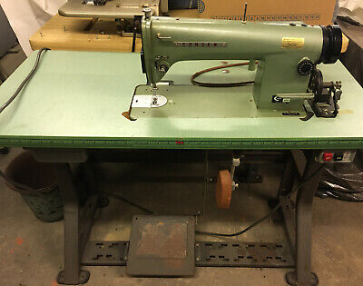 Consew Model 105 Working Commercial Sewing Machine With 20 X 42 Table