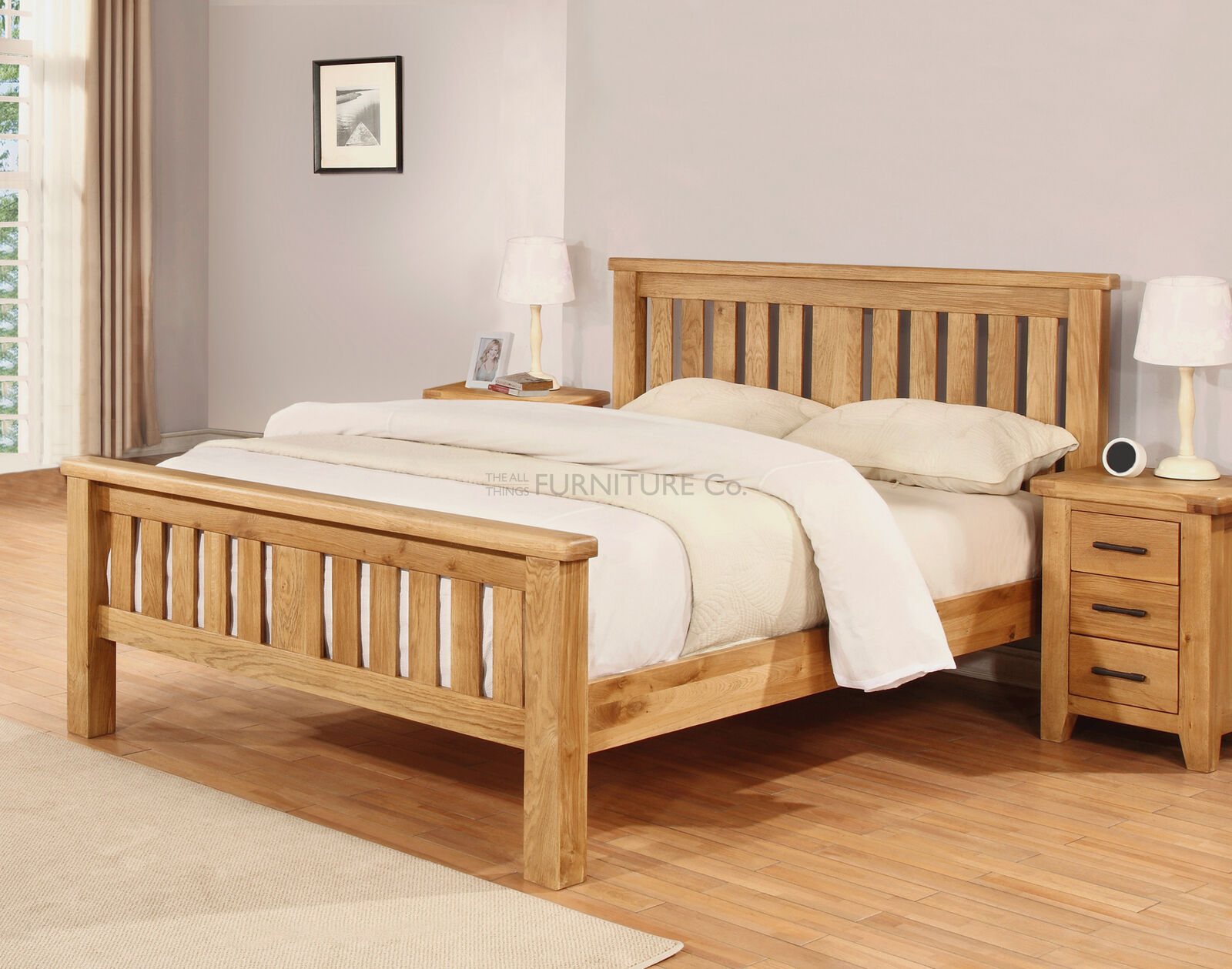 Heimdall 100 Solid Oak Wooden Bed Frame 4ft6 Double 5ft King 6ft Super