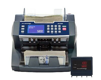 Accubanker Ab5800 Bank Grade Bill Counter Counterfeit Bill Detector