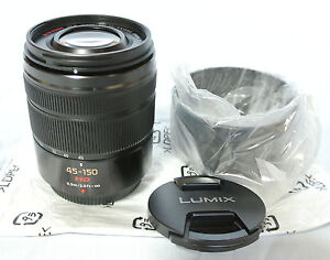 New Panasonic Lumix G Vario 45-150mm F/4.0-5.6 For Micro 4/3 Black H-FS45150