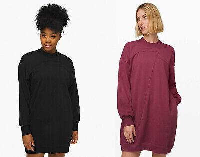 Lululemon Broken Beats Sweater Dress in Black and Plumful NWT