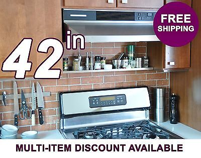 42in ultraLEDGE Stainless Steel Over-the-Range Shelf / Spice
