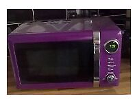 microwave kettle and toaster set in berry burst purple