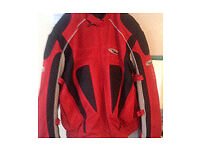 Nitro racing motorcycle jacket, size XL, fully armoured with padded back, shoulder and elbow.