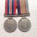 WW2 Australian Medal Pair Awarded to a Female Mayfield East Newcastle Area Preview