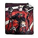 Disney Incredibles Micro Plush Throw Blanket for Kids Bed - 48 x 60 Inch [Red]