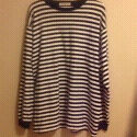 DESIGNER: CLUB MONACO - Blue & White sweatshirt