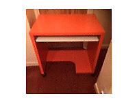 desk and chair orange and pink funky ideal for childs room or adult