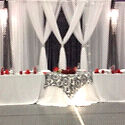 "Black chiffon fabric 12""x 30 feet (x3) wedding, party Strathcona County Edmonton Area image 2"