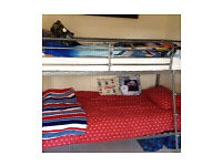 Bunk beds and 1 single mattress v good condition