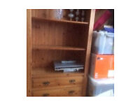 next pine shelf unit with two drawers ( welsh dresser)