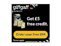 £5 Free Mobile Phone Credit with New Sim Card