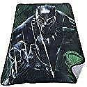 Marvel Black Panther Super Plush Throw Kids Blanket for Boys - 48 x 60 Inch [Black]