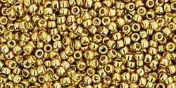 10-grams-Toho-Round-Seed-Beads-15-0-PF-557-PF-Galvanized-Gold