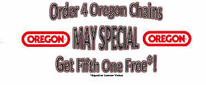 OREGON CHAINSAW CHAIN - SALE BUY 4 GET 5TH FREE!!!!!